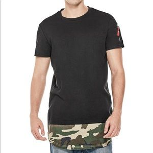 Men's Guess Padget Camo Longline T-Shirt